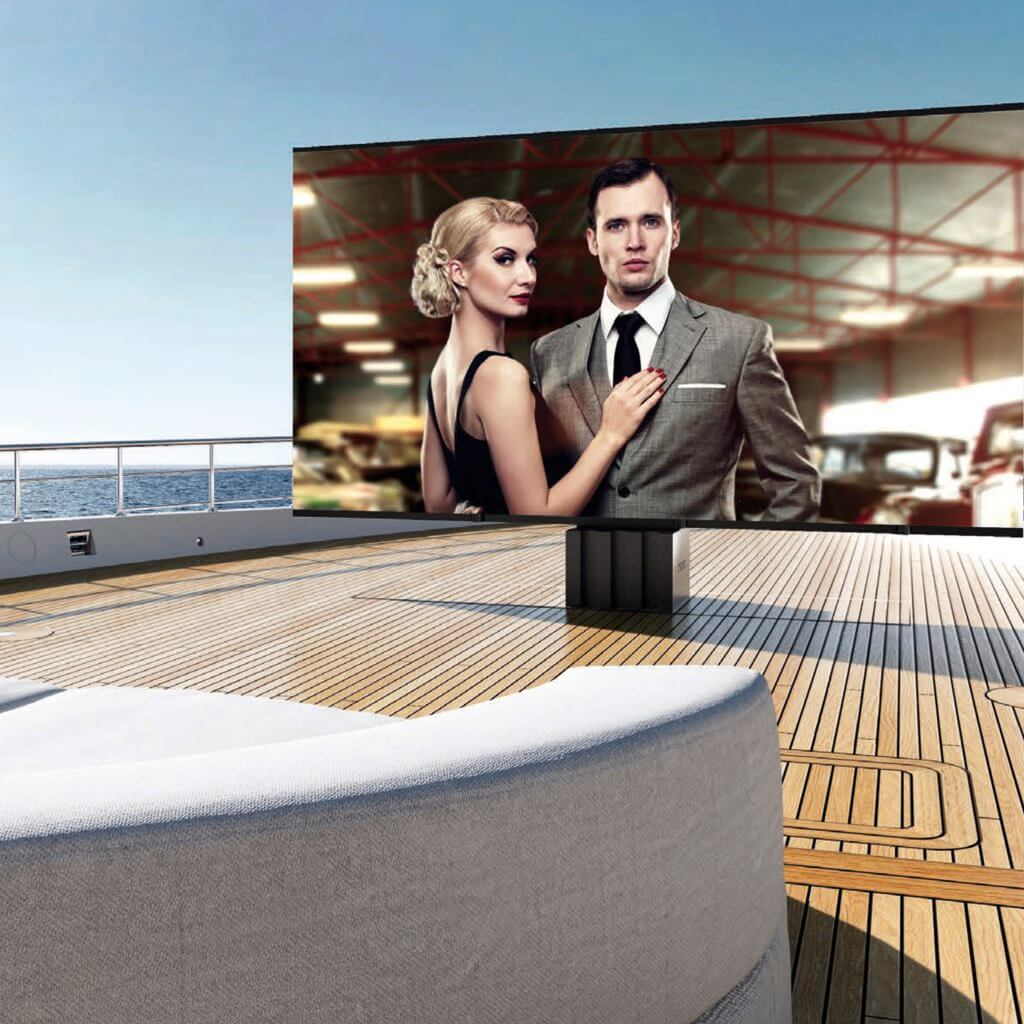 Sales, installation, and integration of C SEED Supermarine TV, The First Real Superyacht TV, in the Miami / Fort Lauderdale area. Available at dmg Martinez Group.