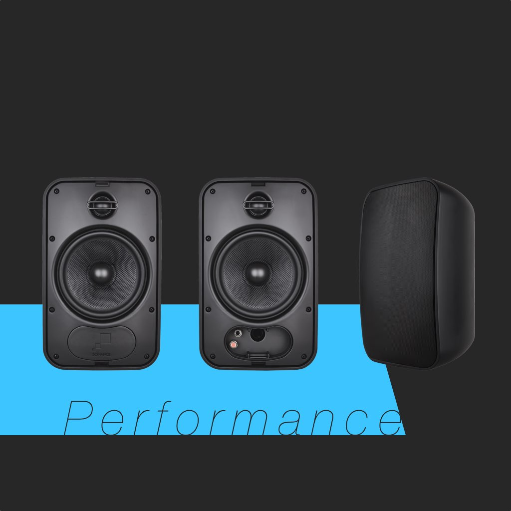 Sonance Mariner 66 in Black SKU# 93155 Medium Outdoor Speaker, in the Miami / Fort Lauderdale area. Available at dmg Martinez Group.