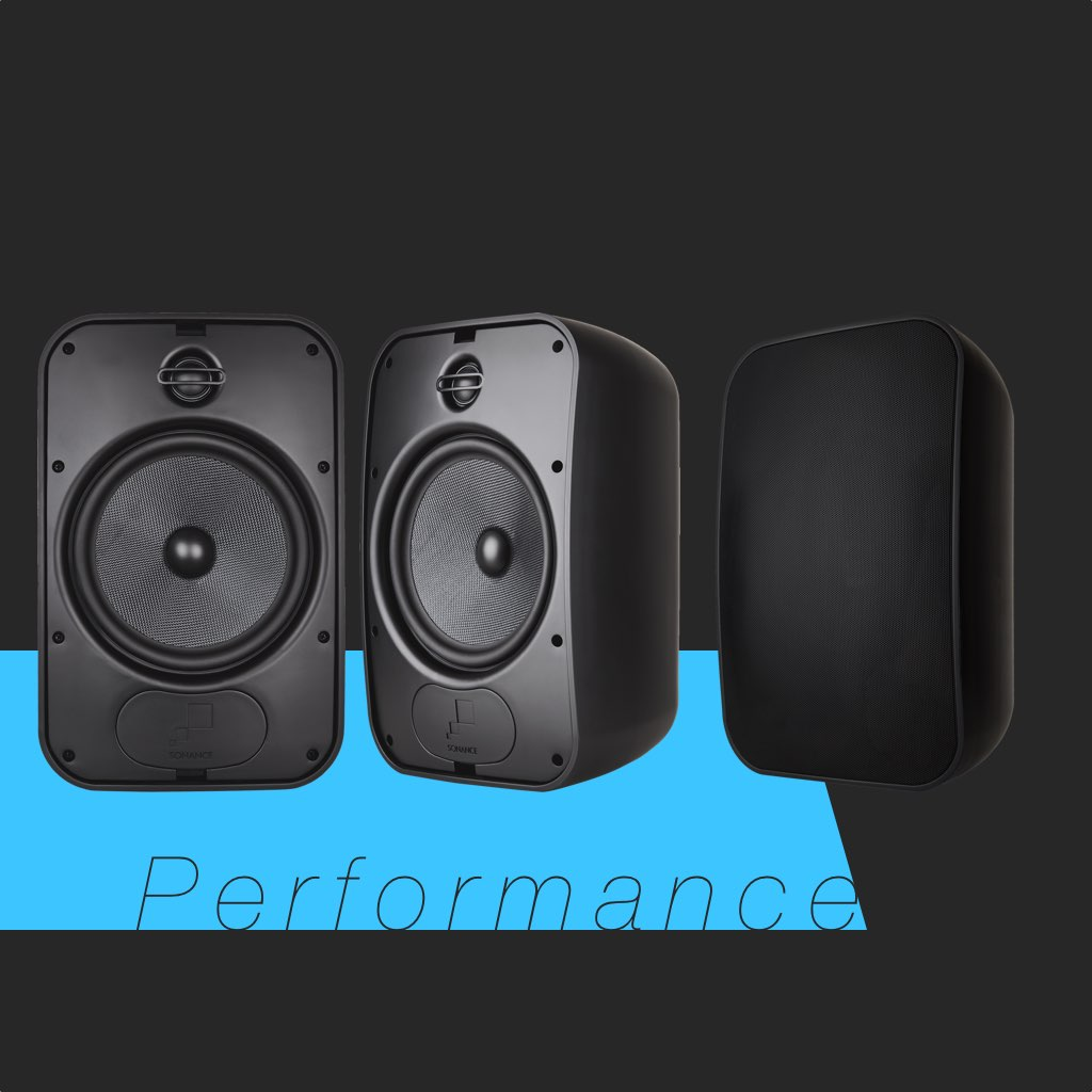 Sonance Mariner 86 in Black SKU# 93157 Large Outdoor Speaker, in the Miami / Fort Lauderdale area. Available at dmg Martinez Group.