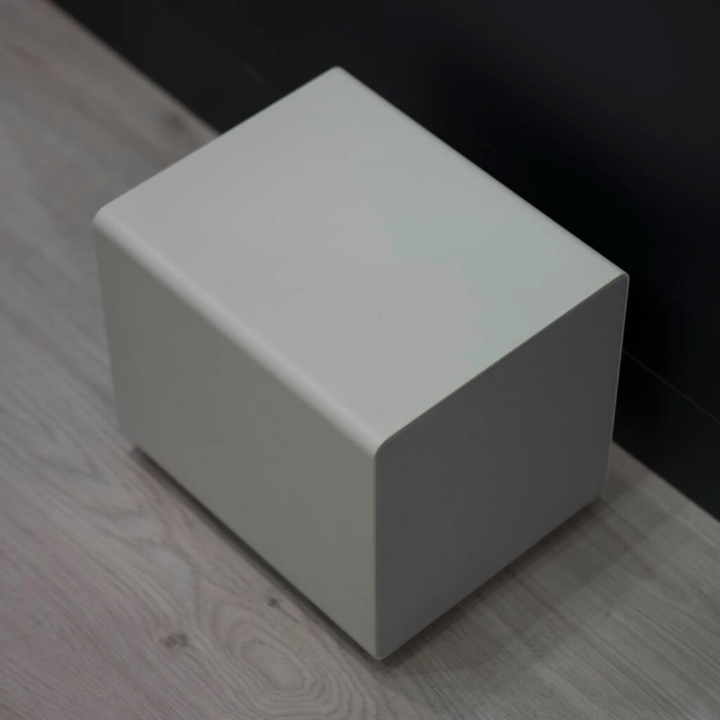 Sonance D8 Subwoofer in white SKU# 93374, in the Miami / Fort Lauderdale area. Available at dmg Martinez Group.
