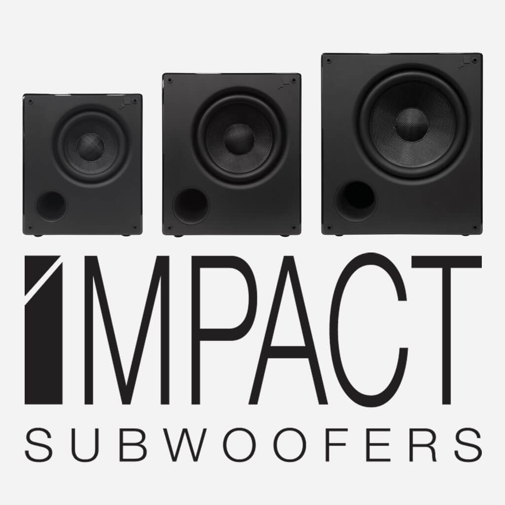 Sonance Impact Subwoofers, in the Miami / Fort Lauderdale area. Available at dmg Martinez Group.