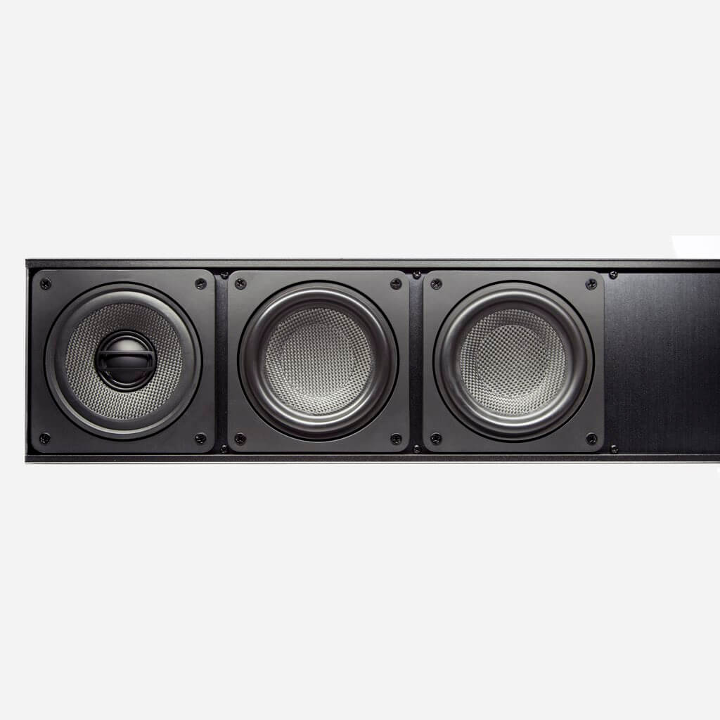 Sonance Soundbar 3-way speaker design, in the Miami / Fort Lauderdale area. Available at dmg Martinez Group.